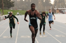by: Vern Uyetake Myke Tavarres won three individual races for Lakeridge last week and took second in the high jump.