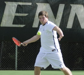 by: Matthew Sherman Lake Oswego's Reid Martin won his match at No. 3 singles in straight sets in a recent contest against West Linn.