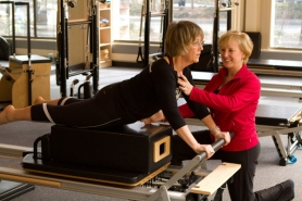 by: Courtesy of Andy Robbins Melanie Byford-Young, noted pilates instructor, will celebrate National Pilates Day on May 7 by offering Stott Pilates classes all week.
