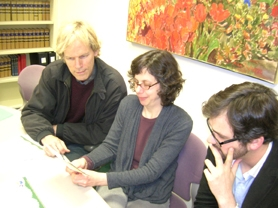 by: CLIFF NEWELL Going over the schedule for Sustainability Action Month in May are, from left, film producer Matt Briggs, city sustainability coordinator Susan Millhauser and AmeriCorps volunteer Alex Deley. Lake Oswego's third SAM is expected to be the strongest ever.