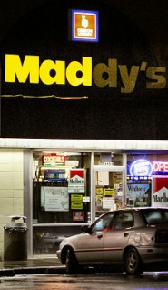 by: David F. Ashton The holdup spree started, police say, on January 11th, here – at Maddy's, 3959 S.E. Powell Boulevard, just north of S.E. 39th (Chavez).