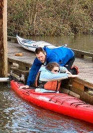 by: Rita A. Leonard People interested in free try-outs of Current Designs kayaks gathered in showery weather April 2 at Sellwood Riverfront Park.