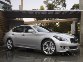 by: COURTESY OF INFINITI Good looks are just the beginning of the appeal of the 2011 Infiniti M37X AWD, a diver's car that lives up to the company's mystique.