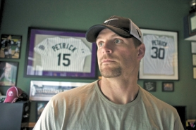 by: JAIME VALDEZ Ben Petrick hit .322 for the Colorado Rockies in 2000, but now he is at home in Hillsboro dealing with Parkinson's and Lyme's diseases.
