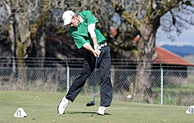 by: Miles Vance HE'S NO. 1 — Jesuit's Trey Johnson (shown here on April 18) wrapped up Metro League medalist honors after shooting 72 on Monday at Rock Creek Country Club.