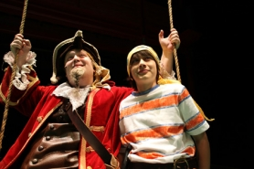"by: Jaime Valdez Niko Jacobson is one of the two young actors who shares the lead role of Jeremy Jacobs in ""How I Became a Pirate."" Dylan Earhart of Cedar Mill is the other actor who portrays the wee lad in the play."