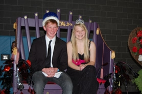 by: submitted photo The 2011 Lakeridge prom king and queen are Collin Gilbert and Allison Schrader.