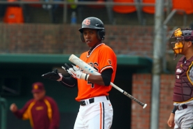 by: Courtesy of OSU Outfielder Brian Stamps and the Oregon State Beavers take a one-game lead in the Pac-10 Conference into their three-game, weekend series at Oregon.