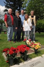 by: VERN UYETAKE The Pioneer Cemetery has an important place in Lake Oswego history, but it is better than ever today. Making this possible are, from left, Jerry Instenes, Dianne Johnson, Richard Santee, Nancy Headlee and Joe Collins.