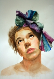 by: contributed photo Bethany Drake's mixed media self-portrait.