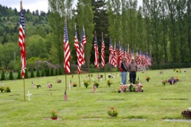 by: Lisa K. Anderson Cliffside Cemetery was filled with flags Monday as local residents gathered to observe Memorial Day.