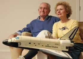 by: vern uyetake West Linn's Tony Cook, with his wife Dianne, reflects on his memories of the second world war and his career with NASA.