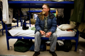 "by: Christopher Onstott ""Mental illness, alcoholism, trouble with the law — sounds vulnerable to me,""  joked 50-year-old David (left), in assessing his chances to be rated one of Portland's 130 most vulnerable homeless. David last week became one of the first to be offered an apartment in Bud Clark Commons."