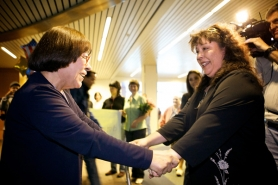 by: Jaime Valdez Rita Peck meets her daughter, Emily Watson, at the Portland International Airport Friday afternoon.