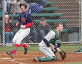 by: Miles Vance STILL ROLLING — Westview senior Donnie Bradley scores in the first inning of his team's 3-0 win over Sheldon last week at Jesuit High School.