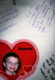by: Tribune File Photo A card was part of the Wall of Hope near Skyline School that sprang up in the days after Kyron Horman disappeared. A year later, reporters who covered the story and the boy's family still feel the raw emotions of that sad day.