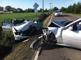 by: Photo courtesy of Washington County Sheriff's Office Sheriff's deputies and local firefighters responded to a head-on crash last Friday near the intersection of Golfcourse and LaFollett Roads south of Cornelius.