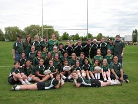 by: SUBMITTED PHOTO West Linn's girls rugby club team recently finished up its season by taking third in state. The Lions wrapped up the year with an impressive victory over North Clackamas.