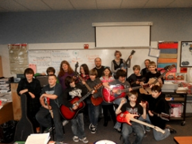 by: contributed photo The Estacada Junior High School Guitar Club.