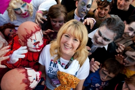 by: CHRISTOPHER ONSTOTT Marilyn Clint,  chief operating officer for the Rose Festival, interviewed zombies before Saturday's Starlight Parade. They all got the job.