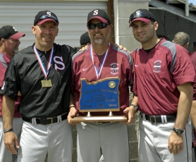 by: DAN BROOD LEADING THE WAY — Sherwood High School baseball coaches (from left) Jerry Ackerman, Jon Strohmaier and Will Brindza helped guide the Bowmen to the 2011 Class 5A state championship.