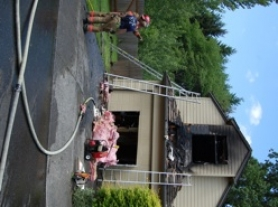 "by: cathy Siegner No one was injured in a single-alarm fire Thursday afternoon at this Happy Valley home at 13163 SE 137th Drive. Clackamas Fire District #1 crews found a renter with her pit bull/blue heeler cross named ""Lucky"" safe while they put out the flames in half an hour."