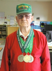 by: John Brewingotn Frank Weber won a gold and two silver medals at the Northwest Senior Games in Seattle.