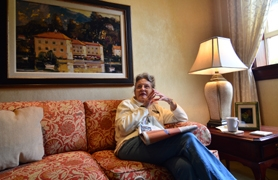 by: VERN UYETAKE Resident Patricia Labadie said this lounge area is her favorite corner of the Provincial House, although she feels as if the whole building is her own.