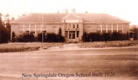 by: Contributed photo The Springdale Grade School after its remodel in 1926.