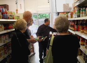 by: BARB RANDALL Chef Surja Tjahara leads tours of Asian food markets and educates people on produce, meats, fish and sauces commonly used in Asian dishes. Lifting The Fork columnist Barb Randall recommends the tours to those wishing to improve the quality of their Asian cooking and cooking skills, and also to those just looking to do something new and fun.