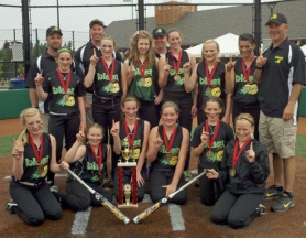 by: submitted photo BLAST OFF — The Tigard Blast earned the title trophy this past weekend.