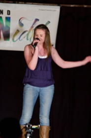 by: SUBMITTED PHOTO Keeley Anderson belts it out during one of her performances in the Portland Teen Idol competition. The finale takes place on Saturday.