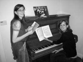 by: Ellen Spitaleri Bethany Ide, left, rehearses a vocal number from