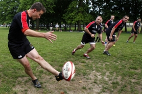 by: Jaime Valdez Portland Pigs rugby team plays an early June scrimmage at Lents Park in Southeast Portland.
