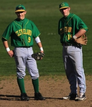 by: JAIME VALDEZ Cleveland High's Dillon Abate (right) and the Warriors' Cole Hamilton.