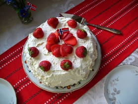 by: SUBMITTED PHOTOS Bløtkake, above and below, is a traditional Scandinavian dessert served at Midsummer Festivals. Make it using Oregon strawberries for a real treat.