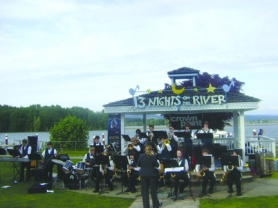by: Tyler Graf TOOTIN' THE HORNS— The St. Helens Community Foundation puts on community events such as the popular weekly summer concert series, 13 Nights on the River.