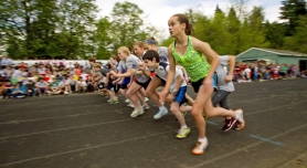 by: Christopher Onstott THERE THEY GO — Runners take off at the start of the seventh-grade race during the Beadnell Classic Invitational mile, held last month at Fowler Middle School in Tigard.
