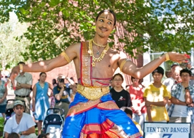 by: Submitted photo Klinton Halliday performs a traditional, East Indian dance style known as Bharata Natyam at the 2010 Ten Tiny Dances. This year's event will be held Saturday, July 9, from 10 a.m. to 1 p.m.