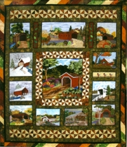 "by: contributed photo ""Bridges in Time,"" the 2011 quilt show raffle quilt, was created by the Quilting and Fiber Arts Club of Sandy. Raffle tickets are available at the show, but the raffle will be held July 24 at the Fly-in Cruise-in."