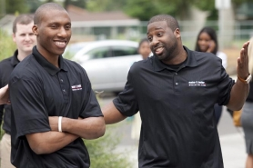 by: CHRISTOPHER ONSTOTT New Trail Blazers guards Nolan Smith (left) and Raymond Felton joke before a press conference Monday in Portland.