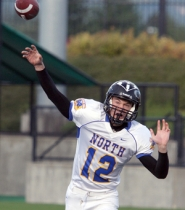 by: Jeff Spiegel Reynolds quarterback Colin Walsh makes a throw during the North's 42-38 win in Saturday's Oregon Bowl.