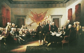 "by: SUBMITTED PHOTO Lake Oswego resident Jim Trumbull's ancestor, the artist John Trumbull, painted this picture titled ""Declaration of Independence."" The picture shows the five-man committee in charge of drafting the United States Declaration of Independence in 1776, presenting its work to the Second Continental Congress in Philadelphia. Read below of what the Fourth of July means to Trumbull."