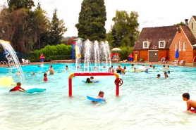 by: David F. Ashton Water features and other amenities still make the Sellwood Pool a great destination on a hot day.