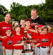 by: Photo by Julie Hanna The Sluggers. What the trophy is, here, was not identified by Ms. Hanna, but apparently the team did well in the tournament at Duniway.