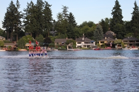 by: SUBMITTED PHOTO / TRAVIS HENDRICKS It was this formation, above, that got the audience — comprised of Oswego Lake residents and their visitors — excited enough to honk the horns on their boats and pull out their binoculars for a closer look.