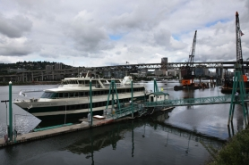 by: Jaime Valdez The Portland Spirit will relocate from the east side of the Willamette River for three years and be modified to fit under TriMet's new transit bridge.