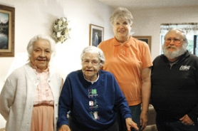 by: Gus Jarvis 300 Main residents Sally Garcia, Lily Ann Johnsen, Joanne Akins, Dominic Boyle will be celebrating their birthday at Friday's open house.
