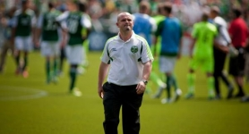 by: CHRISTOPHER ONSTOTT Portland Timbers coach John Spencer leaves the field after a 3-2 loss Sunday to the Seattle Sounders.