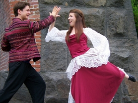 by: SUBMITTED PHOTO Pictured are Steve Rathje as Cleante and Valeria Martinka as Elise.